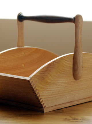 .chestnut and walnut sussex trug